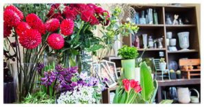 季節の生花と100種類以上のプリザーブドフラワー