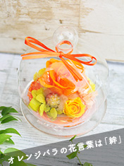 ガラスドーム(オレンジ)
