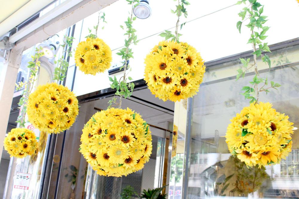 堂島花壇ひまわりディスプレイ