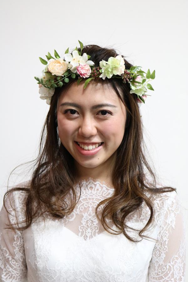 花冠のヘッドフラワー