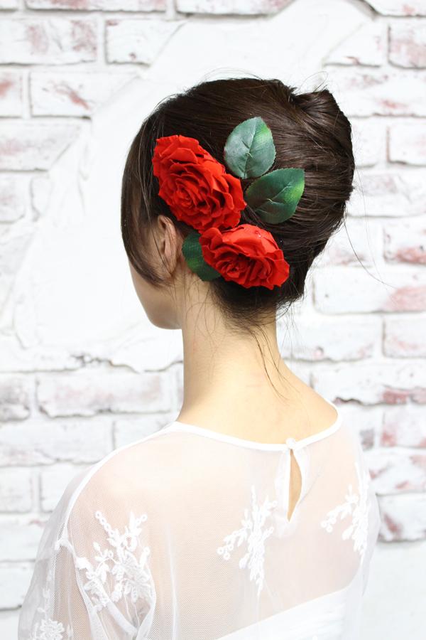 赤バラのヘッドフラワー